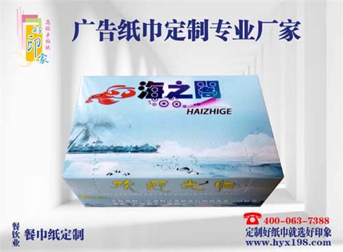 来宾海之阁广告盒装纸巾定制批发厂家-南宁好印象纸品厂