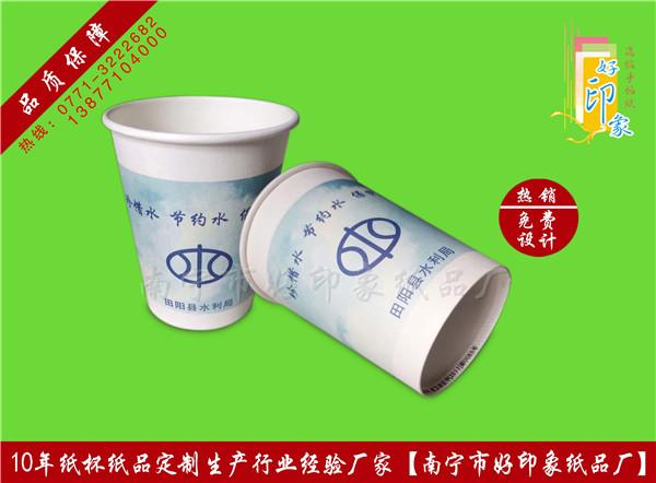 田阳水利局广告纸杯