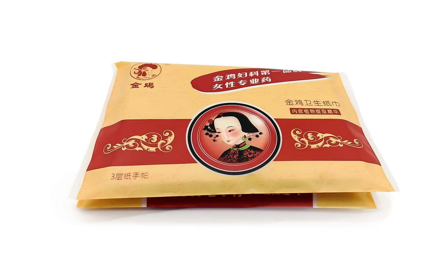 金鸡药业广告餐巾纸
